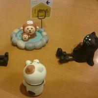 お猿の親子と黒猫と三毛猫たちが温泉談義  (猫10人兄弟・猫大家族スペシャル)