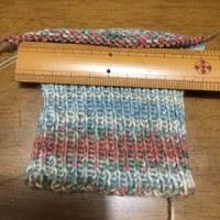 母への手編み手袋2
