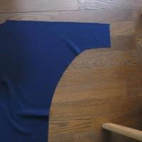 新作、襟をねじって作る・着る、コート試作