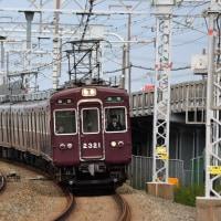 阪急 梶原上三番踏切(2013.10.26)