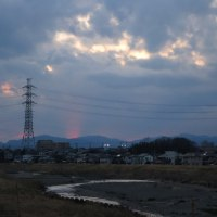 2月25日夕方、少し焼けた空~♪