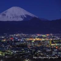 曽我丘陵からの夜景