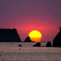 真珠貝の様な朝陽 (志摩・船越)