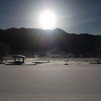 今朝の最低気温-18.1度(全国3位)