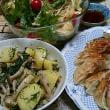 おかひじきポテト 水菜のサラダ
