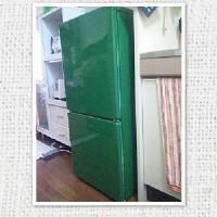 緑色の冷蔵庫の力