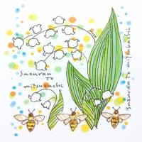 スズランとミツバチ