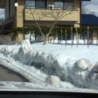 雪まだ深し