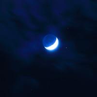 月と金星と火星 接近 MOON20170102