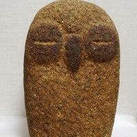 創作石彫:その51「ふくろう」