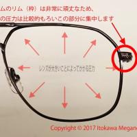 横浜大口 糸川メガネのメガネづくり。       レンズ加工時のひずみを見る器機.3