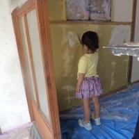 壁塗り頑張りました!