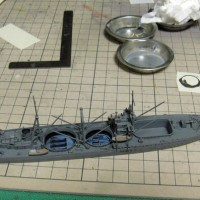 「樫野」46センチ砲塔搭載
