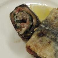 料理教室戸塚塾で作った「秋刀魚の梅紫蘇ロール巻き」