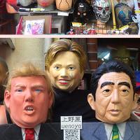 上野でトランプ大統領を発見。