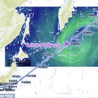 転載: 「赤く輝く海面」の目撃場所と渦を巻く風の位置関係