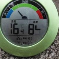 平成29年6月26日・今朝の東祖谷17.8℃