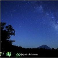 富士山と天の川
