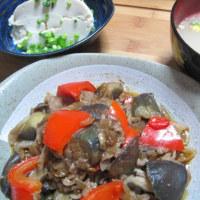 「茄子と豚肉の中華炒め」344kcal