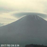 富士山のライブ映像(2017/05/24_6:56)