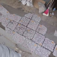 店舗の床の仕込み、目地まで完了