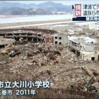 宮城・石巻市の旧門脇小学校と大川小学校の校舎 震災遺構としての整備方針