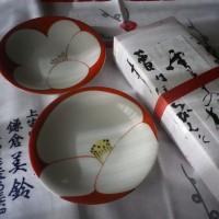 雪中の梅:鎌倉・美鈴さんの1月の菓子