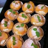 柿のタルトとハロウィンcake