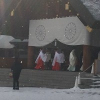 近所の神社へ初詣