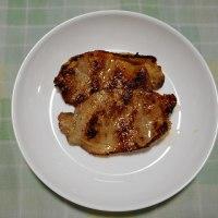 夕飯は豚ロース金山寺みそ焼きでした