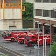 朝の点検、消防署