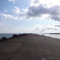 防波堤をお散歩・さぎり湯再び