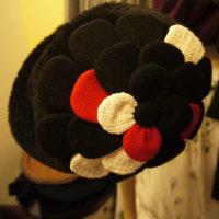 黒と赤と白のお花~Shokoの新作