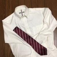 4/29 ネクタイとYシャツ どちらも間に合わせといえば間に合わせ
