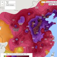 世界の大気汚染:リアルタイム表示
