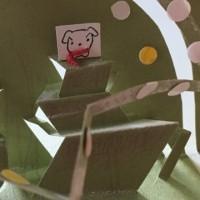 とび出すカード、がんばりやちゃんカードメッセージ入れました