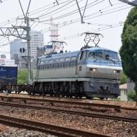 夙川カーブから下り貨物を(6月20日撮影)