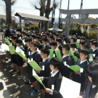 文政神社のお祭りに6年生が参加しました。
