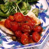 冷麺&鱈のソテー・トマトソース