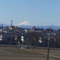 新幹線から富士山が