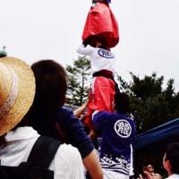 今治市大西町の龍神社の獅子舞の奉納「継ぎ獅子の立ち芸」が行われました (その2)