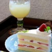 イチゴのショートケーキも名人戦定番ですね♪@ 名人戦第5局2日目のおやつ