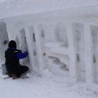 志津温泉の雪旅籠(長いよ)