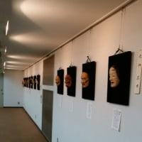 能面教室の作品展