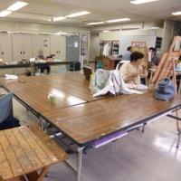 デッサンと水彩画・日本画クラスにお邪魔しました。