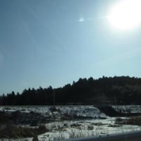 久しぶりの青空に、お山が綺麗に見えました。