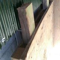 高床式 薪小屋完成!
