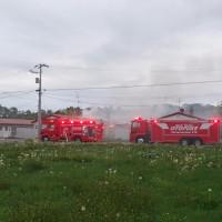 早朝の住宅火災