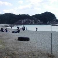 子供達の歓声が~竜串・桜浜