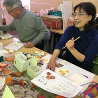 絵手紙教室『栗』を描く